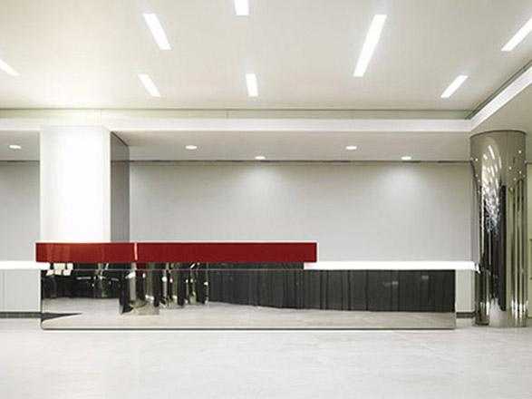 projekt wnetrza recepcji biurko recepcyjne