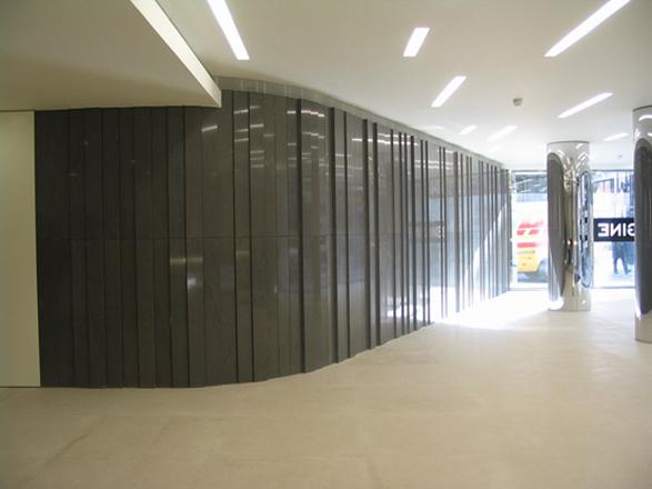 projekt wnetrza recepcji sciana dekoracyjna