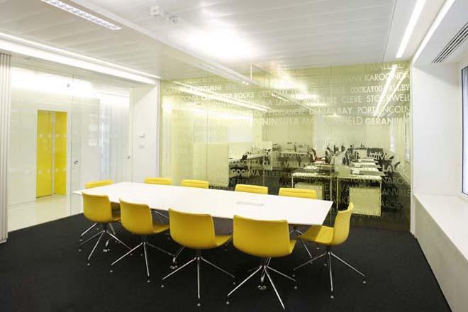 projekt wnetrza biura sala konferencyjna
