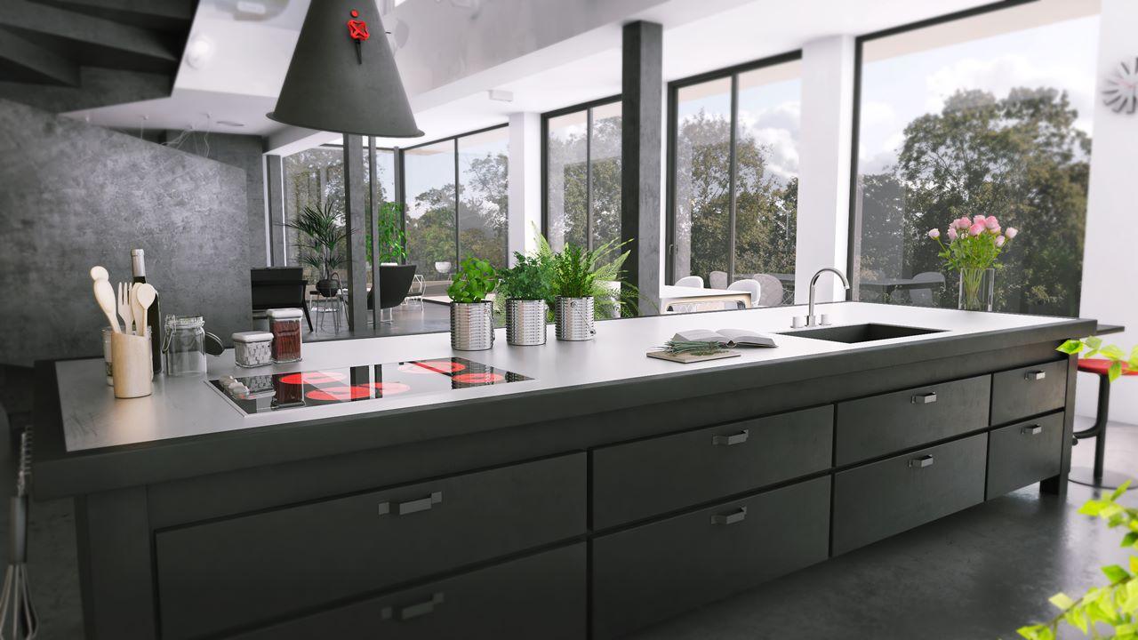 widok na kuchnię w domu w katowicach
