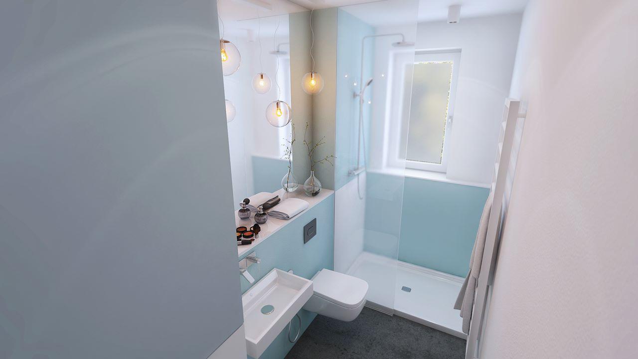widok na łazienkę